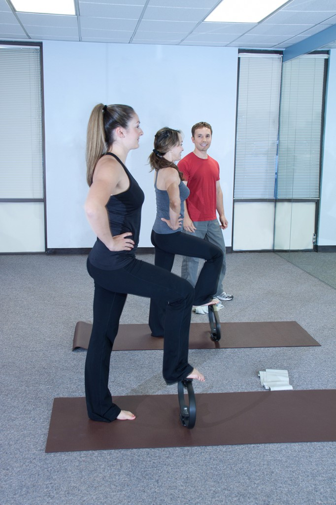 Joseph Lyon with Pilates students